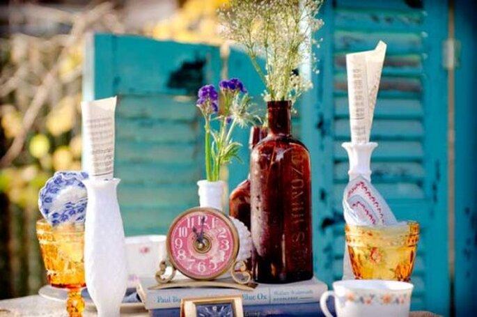 Las mejores flores para la decoración de tu boda - Foto The Vintage Rental Co.