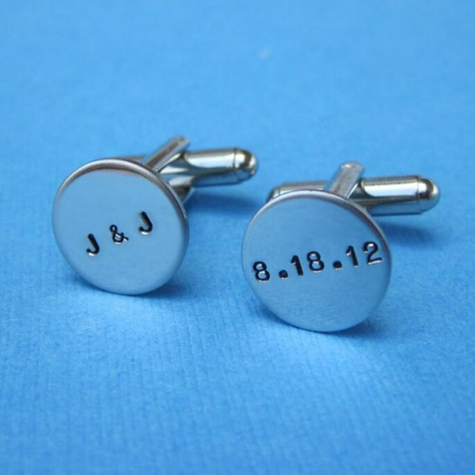 Manschettenknöpfe mit Initialen,  Hotaru Jewelry auf Etsy
