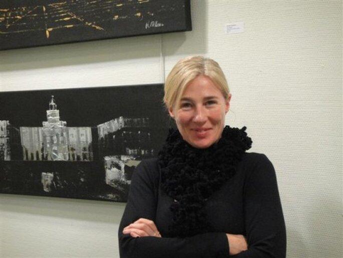 Helena Mclean en su exposición 'Ciudad Emergente'