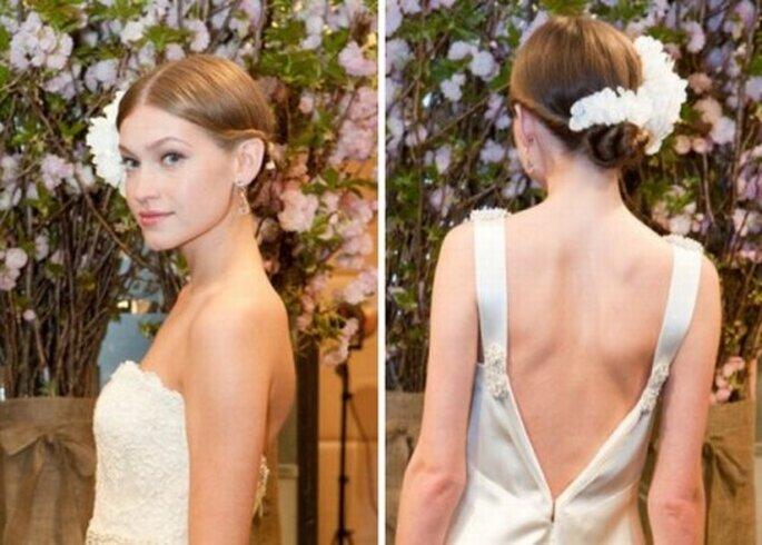 Pettinatura da sposa alle sfilate di Badgley Mischka Primavera 2013