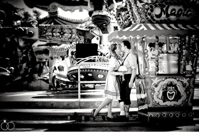 Rummelromantik für´s Hochzeitsbild! // Foto: Katja Schünemann