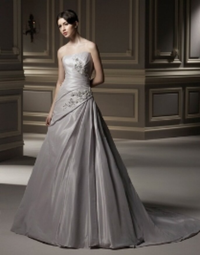 Vestido lila en satén - Anjolique 2009