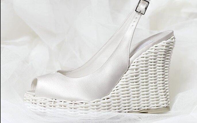 Scarpe Da Sposa Con Zeppa Alta.Collezione 2009 Scarpe Da Sposa Rosa Clara
