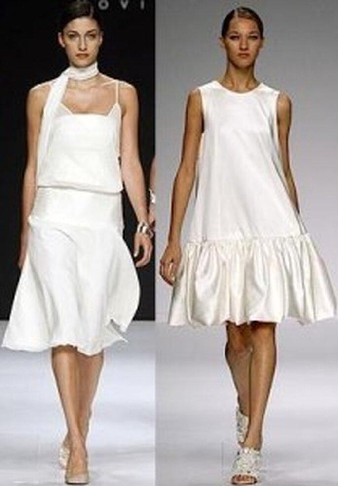 Vestidos cortos de seda