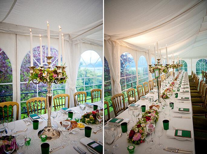 Jouez avec les couleurs pour votre décoration de mariage - Photo : Kristin Speed