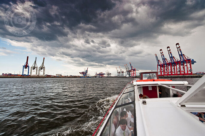 Barkassenfahrt im Hamburger Hafen - Foto: Nicole Bartels.