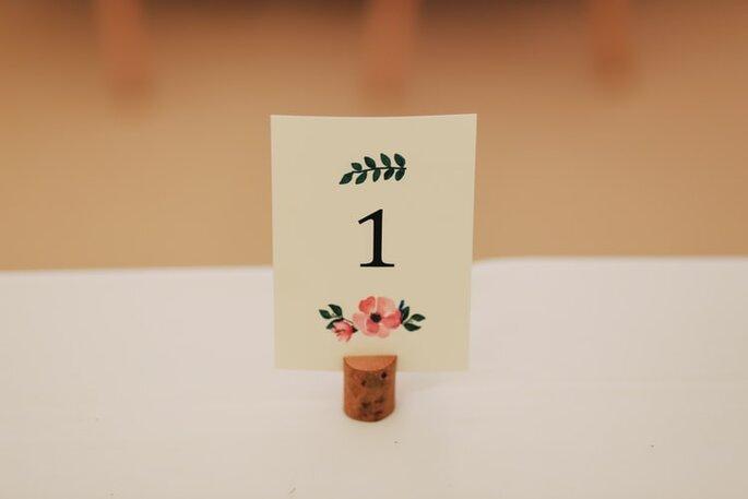 pequeño letrero para boda indicador de mesa
