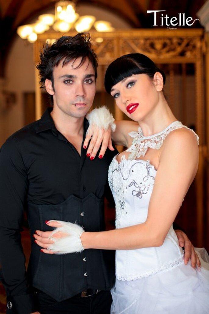 """Robe """"Swanned Bride"""" - Titelle collection 2011 - Photographe : Lp Addictive Modèle : Elena Avdeeva Collier : Jeanneetlou.com - modèle Mathilde"""