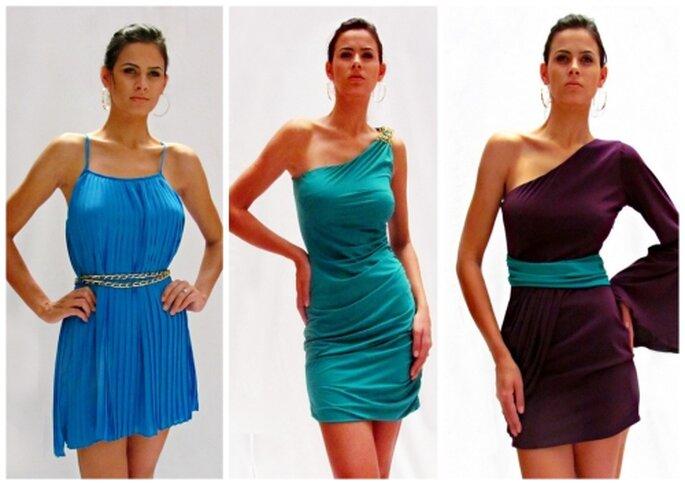 Vestidos cortos para damas de honor, diseños de MIPA