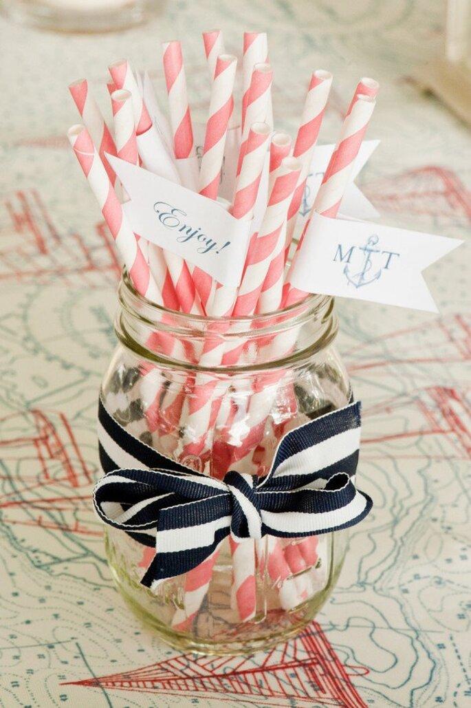 Inspiración en marino y coral para tu boda - Foto Alice G Patterson Photography