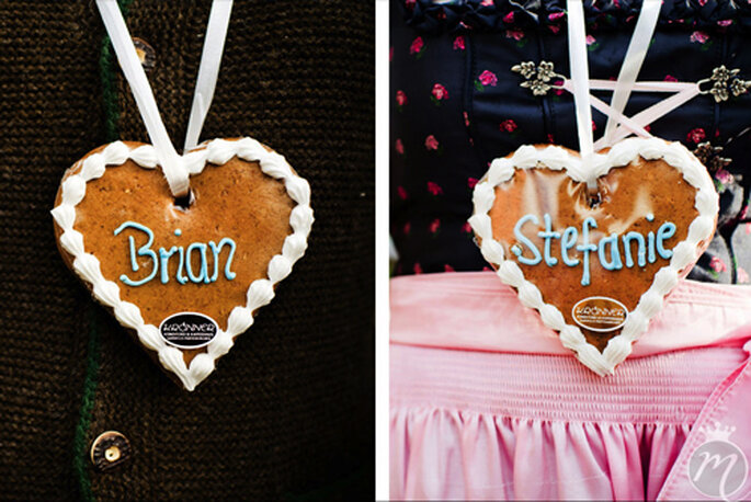 Eine doppelte Portion Herz für das Brautpaar, Brian und Stefanie - Foto: Martina Rinke.