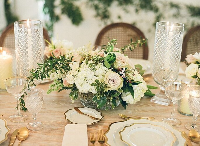 Arreglo con flores centro de mesa
