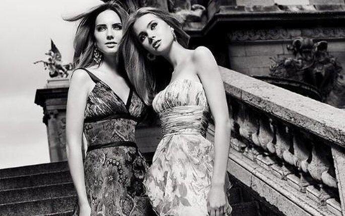 Colección de vestidos de fiesta estampados Pronovias 2010