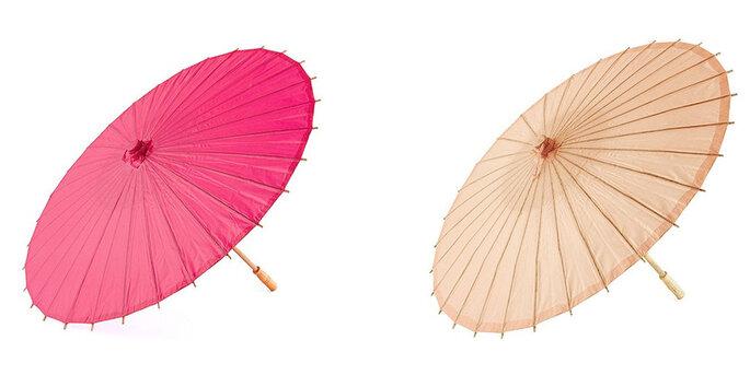 Sombrilla de bambú fucsia