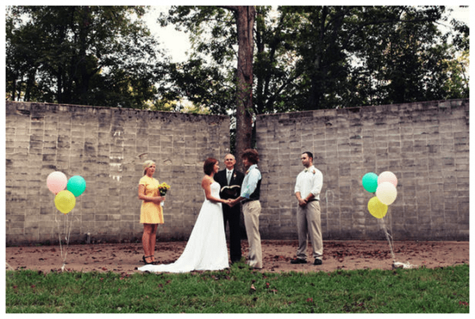 Decoración de boda con globos - Foto Glass Jar Photography