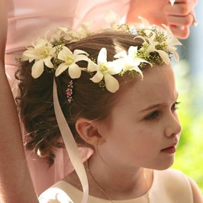 Tiara de flores Foto: Decorart