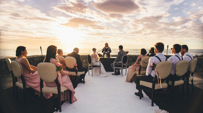 Cerimónia de casamento no Forte São João