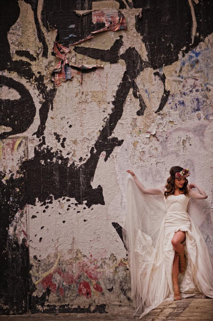 Shooting post-boda con sandalias. Foto El Marco Rojo