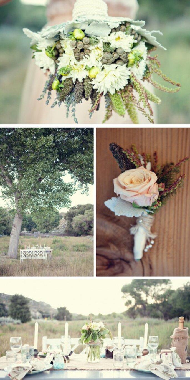 Complementa la decoración de tu boda y todo el ambiente con hierbas con olor - Foto AE Martin Photography