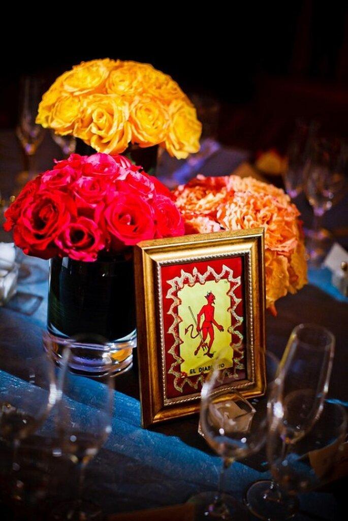 Elegantes centros de mesa con decoración mexicana para una boda - Foto Ollin76 en Flickr