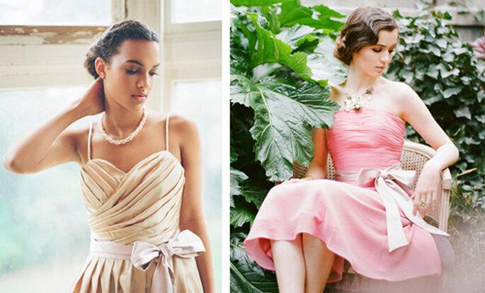 Vestidos para damas de honor en tonos pastel - Foto: Ruche