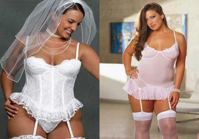 comprar auténtico muchos de moda lo mas baratas Lencería para novias con curvas