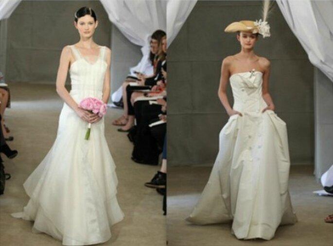 Due modi per essere ugualmente una sposa con stile. Carolina Herrera Spring 2013