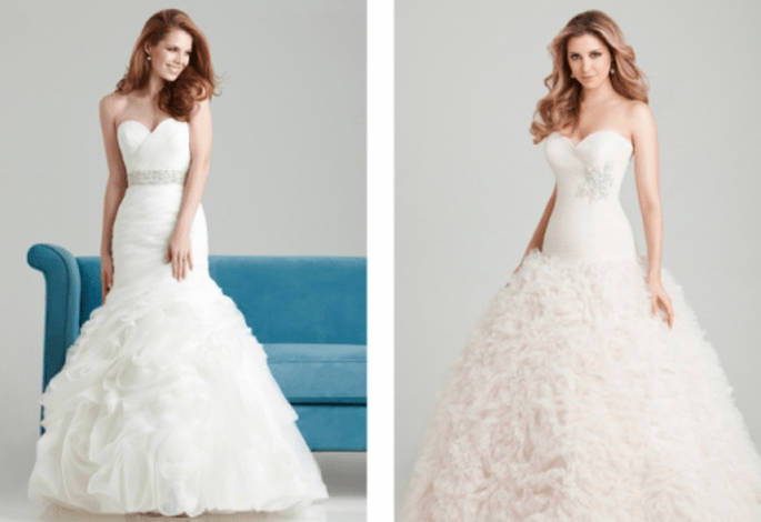 Colección de románticos vestidos de novia para primavera 2013 - Foto Allure Bridals