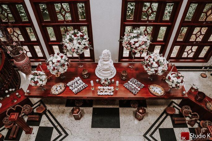 Mesa de doces no Requinte Campestre