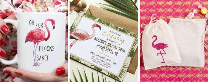 Decora tu matrimonio con flamingos