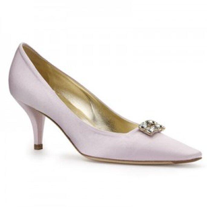 Roger Vivier, zapato de novia de tacón medio