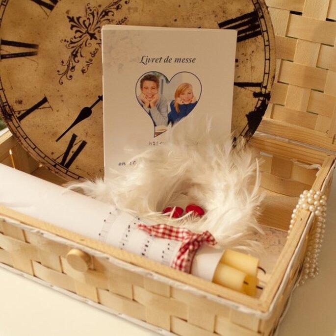 Un livret de messe unique pour votre mariage. Photo: Schobuk.