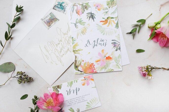 Tropikalne zaproszenie Love Prints