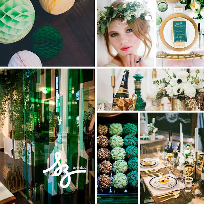 Inspiración para tu boda en colores turquesa y dorado - Foto Mr Haack, Christa and Ivy, Raya Carlisle