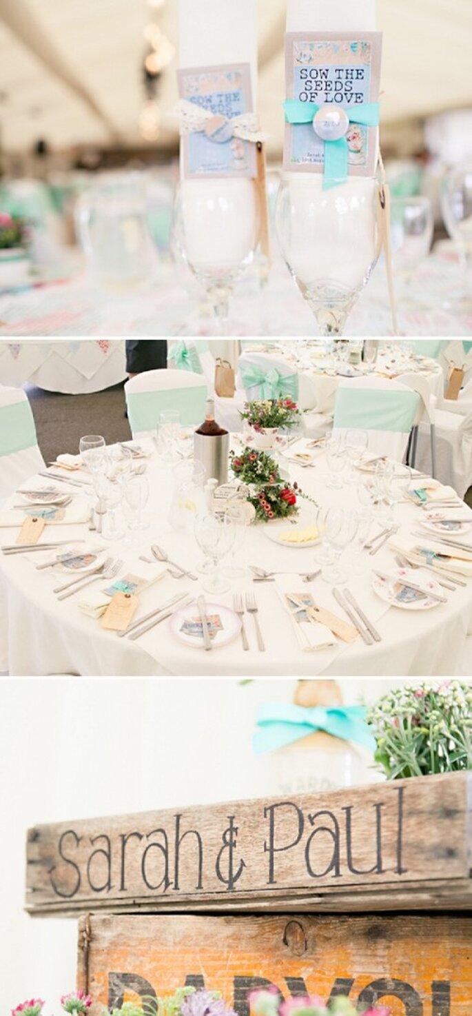 Decoración de tu boda en color menta para un ambiente muy romántico - Foto HBA Photography