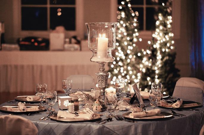 Decoración de mesas de boda inspirada en la Navidad - Foto Turner Creative Photography