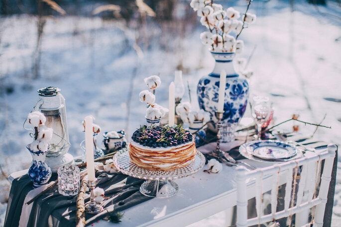 mesa decoracion invierno