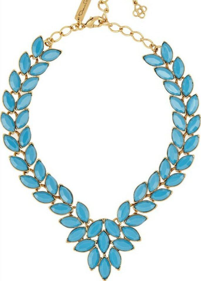 Ожерелье бирюзового цвета, от Oscar de la Renta.