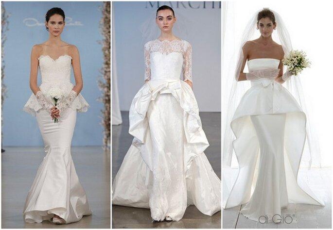 Los vestidos de novia con doble falda son tendencia en 2014