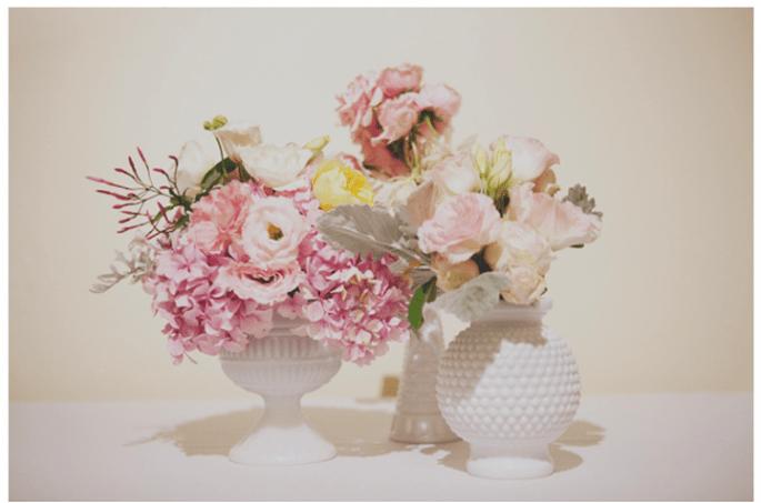 Los centros de mesa con flores más elegantes para una boda en 2014 - Foto Stone Crandall Photography