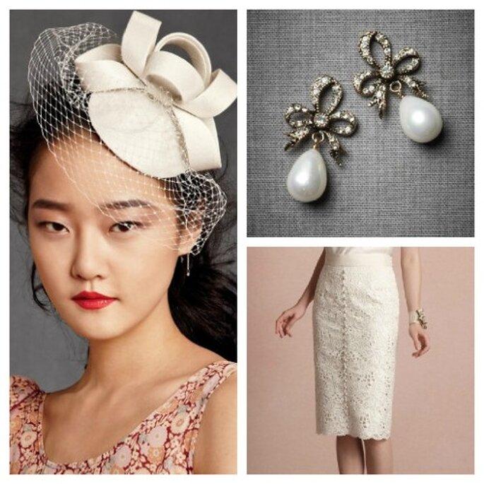 Gut behütet: Mit Hut geht es elegant zur Hochzeitsfeier – Foto: bhldn