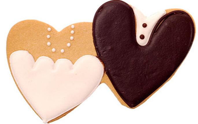 Galletas con forma de corazon para regalar
