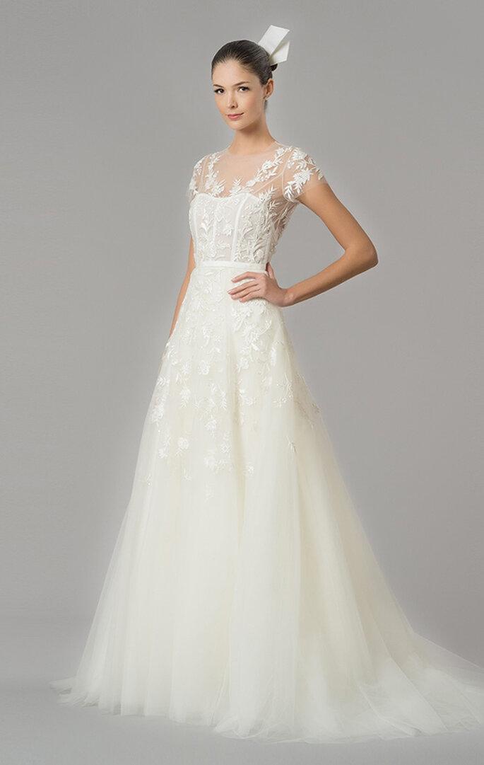 vestidos de novia de carolina herrera 2016: romanticismo y delicadeza
