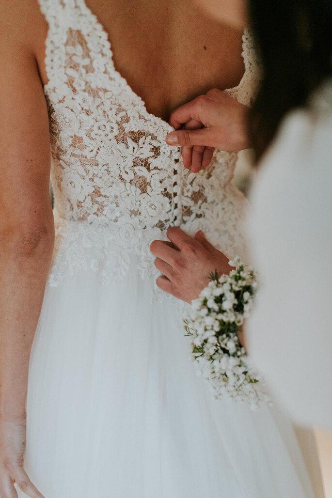 Tiny Wedding im Boho Stil Alte Gärtnerei München Getting Ready Braut