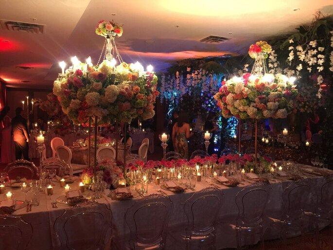 Juan Parra Decorador - Fiestas In Floreros altos boda