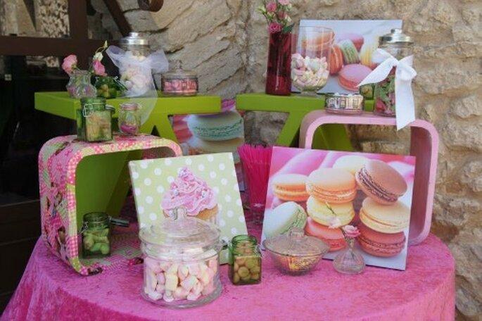 Confetti, dolci, marshmallow. Niente può mancare ad un matrimonio in! Foto : One Day Event