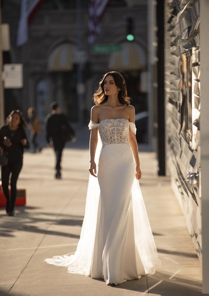 vestido de noiva ombro a ombro sexy