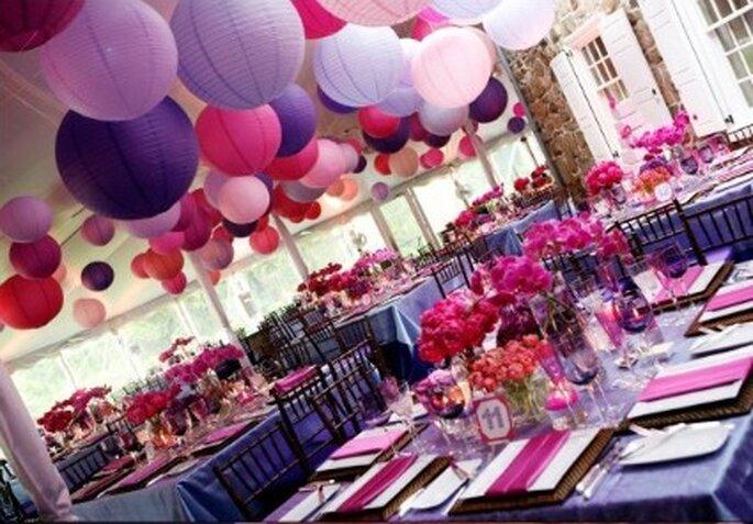 Lanternes en papier : le petit plus déco de la salle de réception de votre mariage