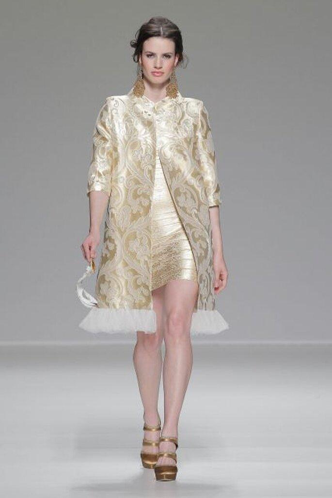 Vestido de fiesta de Matilde Cano 2014.