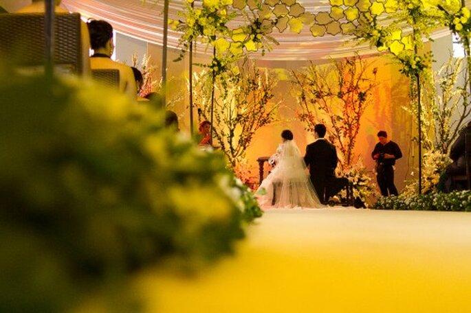 La ceremonia religiosa con decoración inspirada en la naturaleza - Foto Pepe Orellana